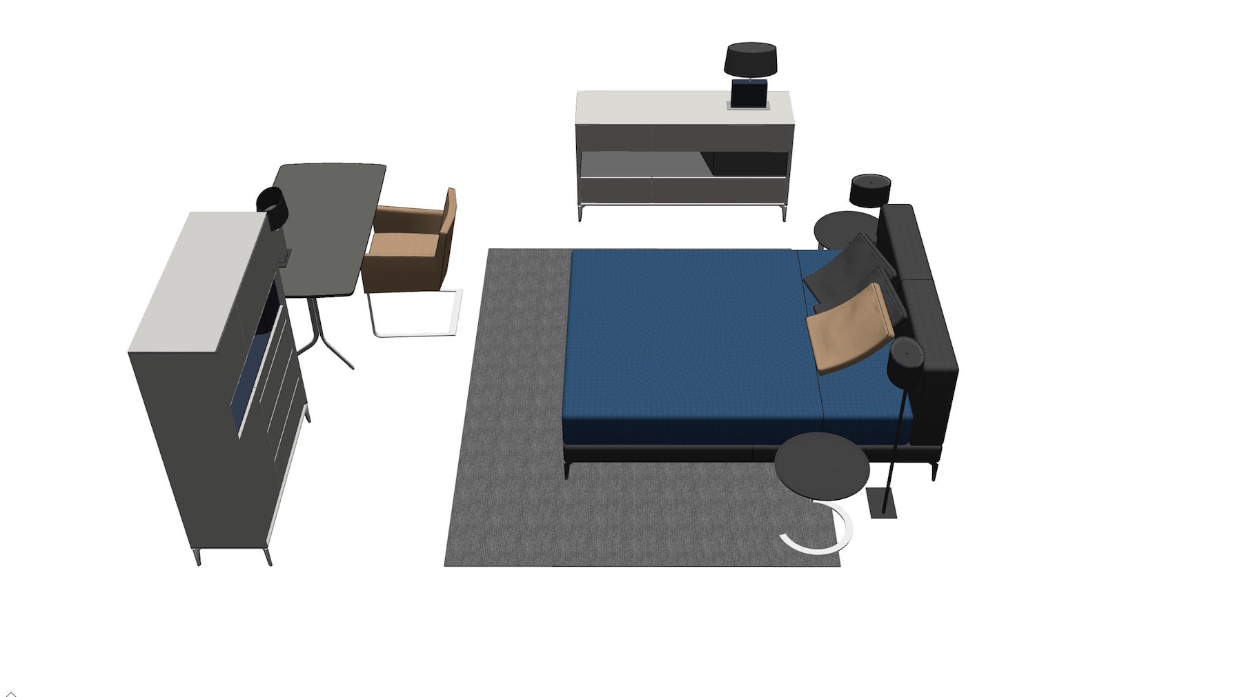 SketchUp 3D dining room