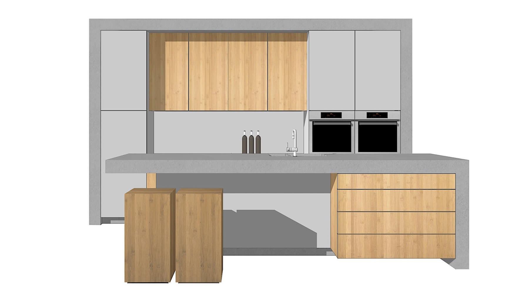 SketchUp 3D kitchen model
